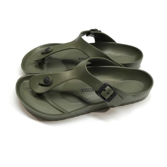 1090015e8fd7 Birkenstock Shoes - Birkenstock Gizeh Eva Olive Green Sandals Sz 40